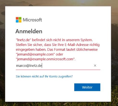 Office 365 Anmeldung Admin Center Screenshot 1
