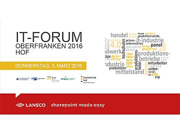 Lansco auf dem it forum Oberfranken 2016
