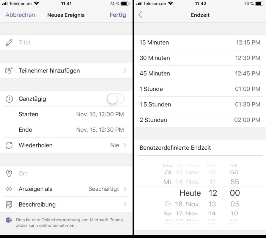 Microsoft Teams Meeting mobile Screenshot