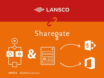 Partnerschaft Sharegate, Nintex und Lansco