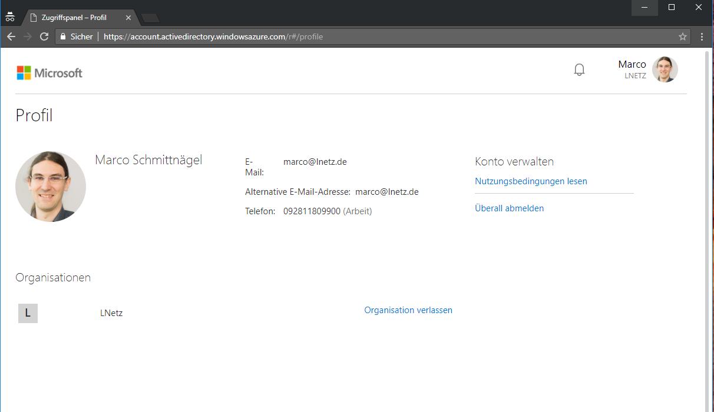 Office 365 Account Screenshot