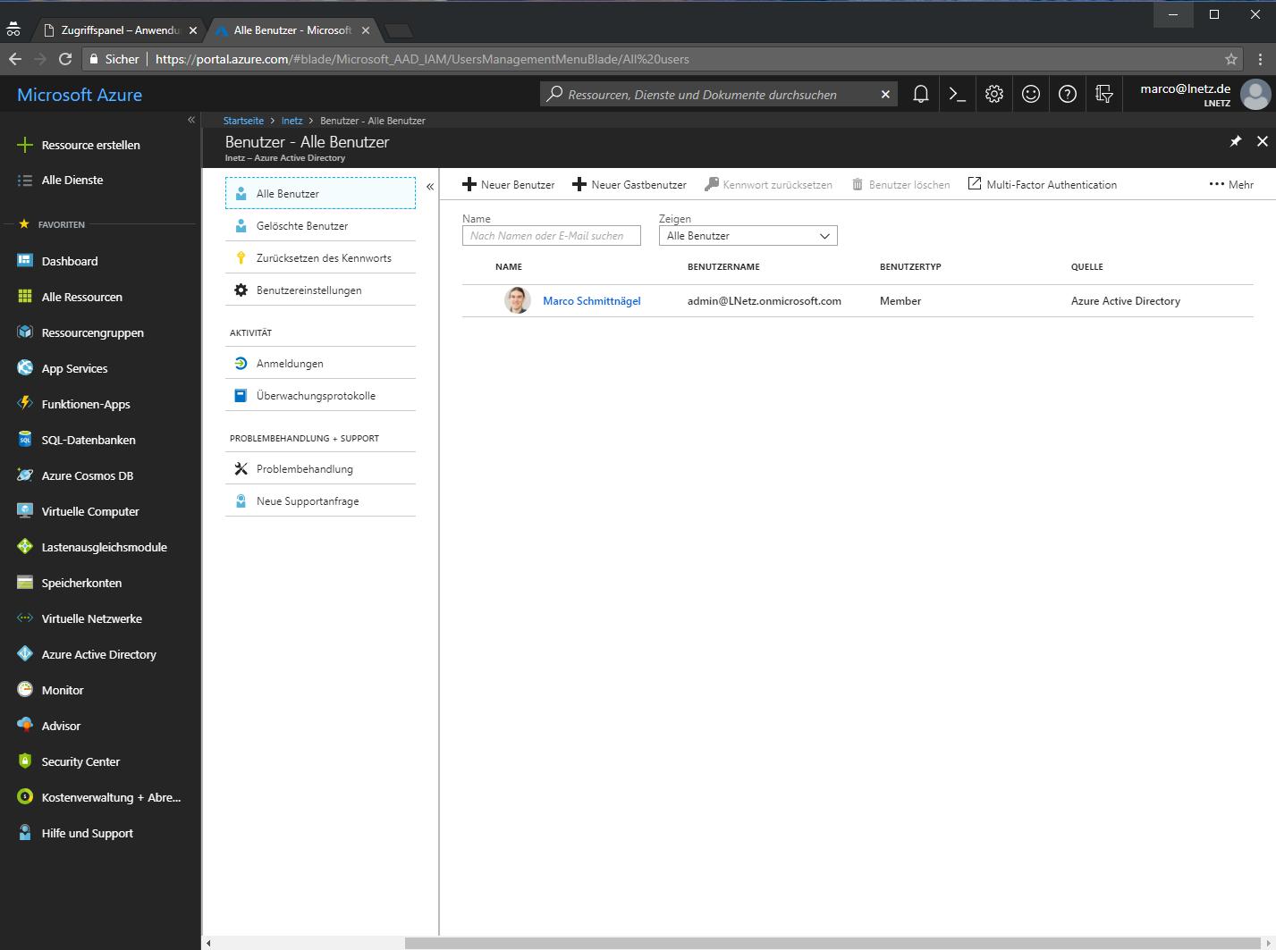 Office 365 Azure Portal Screenshot 2