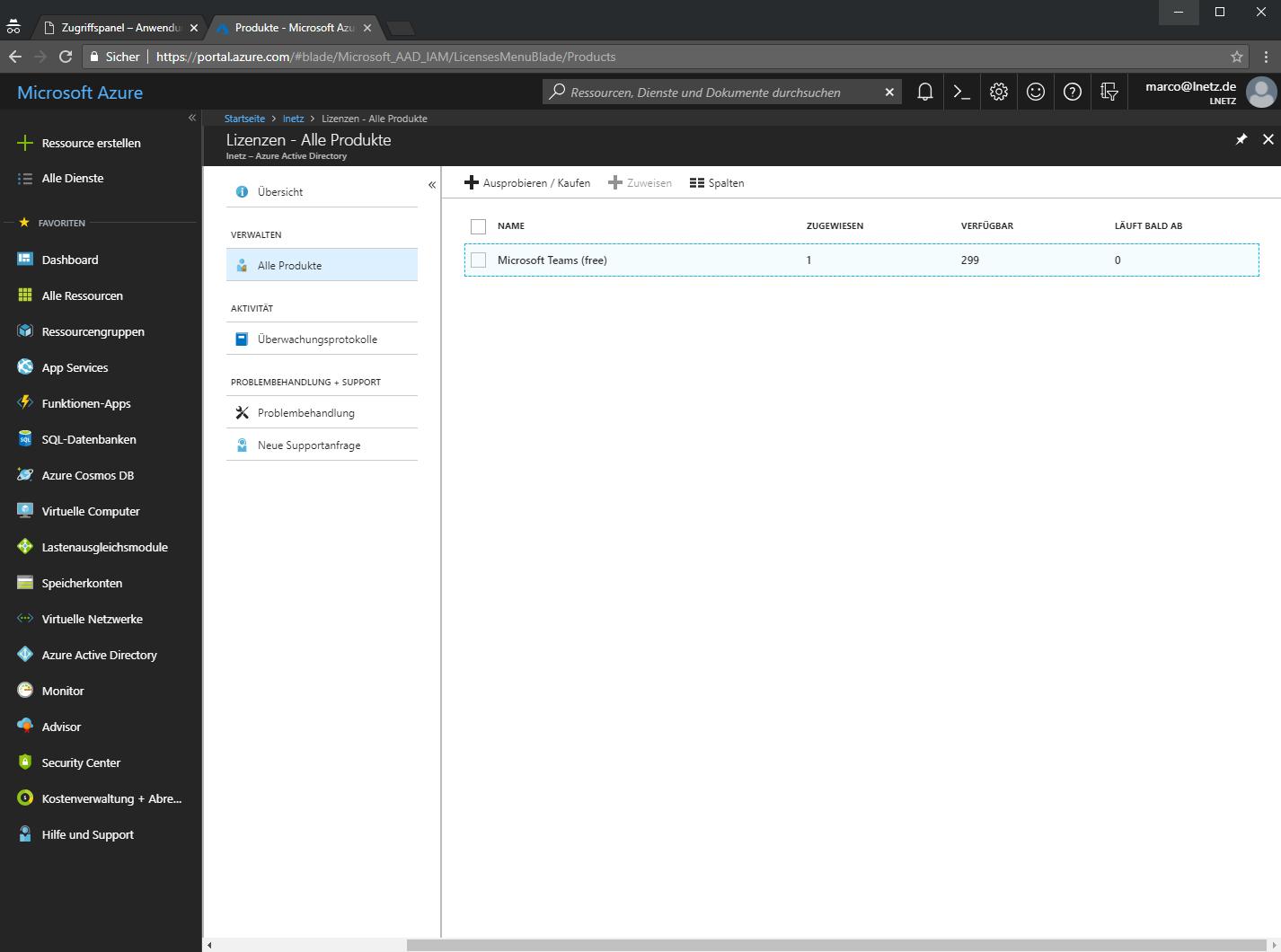 Office 365 Azure Portal Screenshot 3