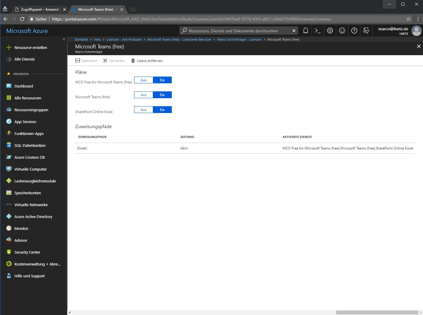 Office 365 Azure Portal Screenshot 4