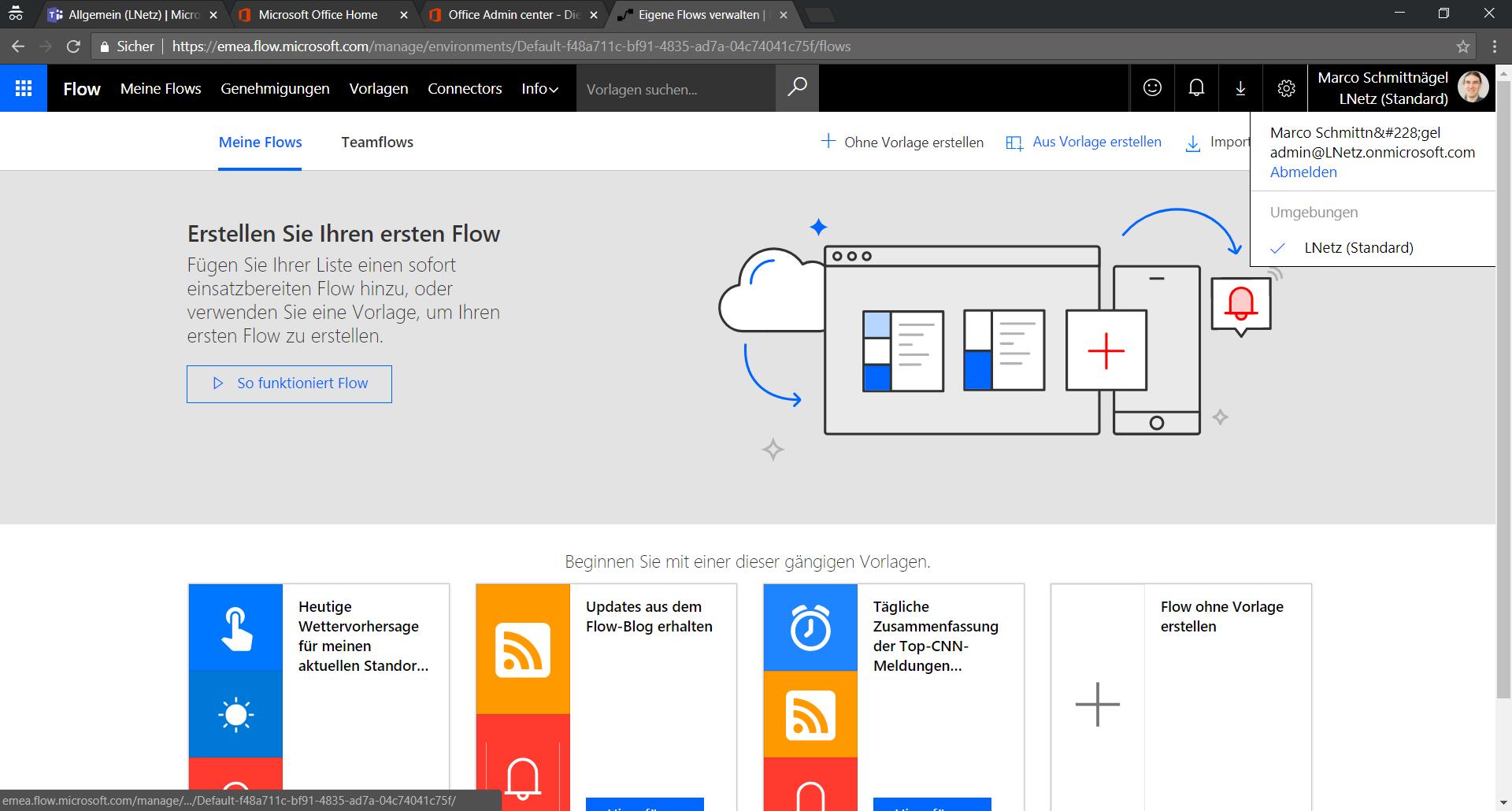 Office 365 Flow Screenshot