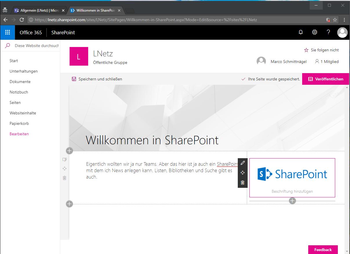Microsoft Teams SharePoint Site Screenshot 2