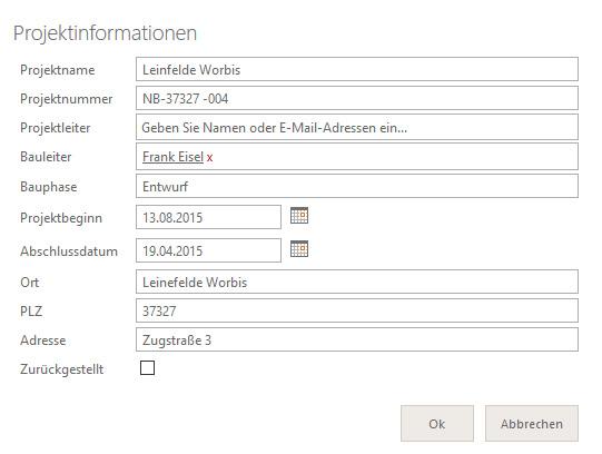 Steckbrief für Kollaborationsräume Screenshot